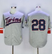 Wholesale Cheap Mitchell And Ness 1969 Twins #28 Bert Blyleven Grey Throwback Stitched MLB Jersey