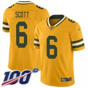Wholesale Cheap Nike Packers #6 JK Scott Gold Men's Stitched NFL Limited Inverted Legend 100th Season Jersey