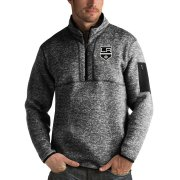 Wholesale Cheap Los Angeles Kings Antigua Fortune Quarter-Zip Pullover Jacket Charcoal