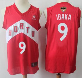 Wholesale Cheap Raptors #9 Serge Ibaka Red 2019 Finals Bound Basketball Swingman Earned Edition Jersey