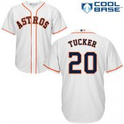 Wholesale Cheap Astros #20 Preston Tucker White Cool Base Stitched Youth MLB Jersey