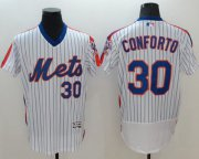Wholesale Cheap Mets #30 Michael Conforto White(Blue Strip) Flexbase Authentic Collection Alternate Stitched MLB Jersey