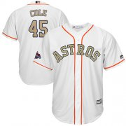 Wholesale Cheap Astros #45 Gerrit Cole White 2018 Gold Program Cool Base Stitched Youth MLB Jersey