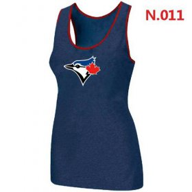 Wholesale Cheap Women\'s Nike Toronto Blue Jays Big Logo Tri-Blend Racerback Stretch Tank Top Blue