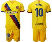 Wholesale Cheap Barcelona #10 Messi Away Soccer Club Jersey