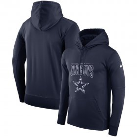 Wholesale Cheap Dallas Cowboys Nike Sideline Property Of Logo Performance Pullover Hoodie Navy