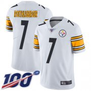 Wholesale Cheap Nike Steelers #7 Ben Roethlisberger White Men's Stitched NFL 100th Season Vapor Limited Jersey