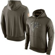 Wholesale Cheap Men's Atlanta Falcons Nike Olive Salute To Service KO Performance Hoodie