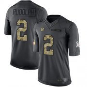 Wholesale Cheap Nike Steelers #2 Mason Rudolph Black Youth Stitched NFL Limited 2016 Salute to Service Jersey