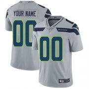 Wholesale Cheap Nike Seattle Seahawks Customized Grey Alternate Stitched Vapor Untouchable Limited Men's NFL Jersey