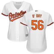 Wholesale Cheap Orioles #56 Darren O'Day White Home Women's Stitched MLB Jersey