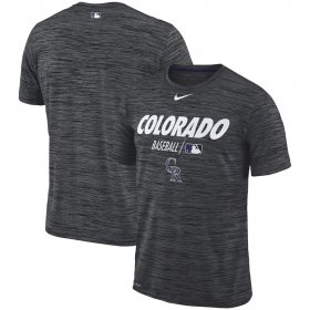Wholesale Cheap Colorado Rockies Nike Authentic Collection Velocity Team Issue Performance T-Shirt Black