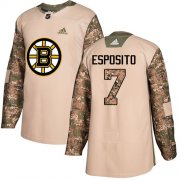 Wholesale Cheap Adidas Bruins #7 Phil Esposito Camo Authentic 2017 Veterans Day Stitched NHL Jersey