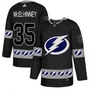 Cheap Adidas Lightning #35 Curtis McElhinney Black Authentic Team Logo Fashion Stitched NHL Jersey