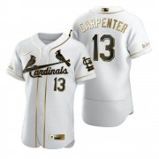 Wholesale Cheap St. Louis Cardinals #13 Matt Carpenter White Nike Men's Authentic Golden Edition MLB Jersey