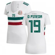 Wholesale Cheap Women's Mexico #19 O.Pineda Away Soccer Country Jersey