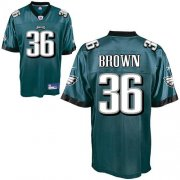 Wholesale Cheap Eagles #36 Ronnie Brown Green Stitched NFL Jersey