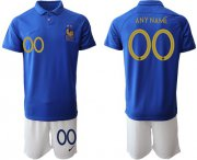 Wholesale Cheap France Personalized 100th Anniversary Edition Soccer Country Jersey