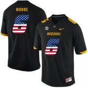Wholesale Cheap Missouri Tigers 6 J'Mon Moore Black USA Flag Nike College Football Jersey