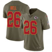Wholesale Cheap Nike Chiefs #26 Le'Veon Bell Olive Men's Stitched NFL Limited 2017 Salute To Service Jersey