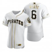 Wholesale Cheap Pittsburgh Pirates #6 Starling Marte White Nike Men's Authentic Golden Edition MLB Jersey