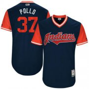 "Wholesale Cheap Indians #37 Cody Allen Navy ""Pollo"" Players Weekend Authentic Stitched MLB Jersey"