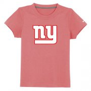 Wholesale Cheap New York Giants Sideline Legend Authentic Logo Youth T-Shirt Pink