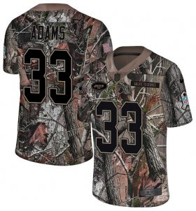 Wholesale Cheap Nike Jets #33 Jamal Adams Camo Youth Stitched NFL Limited Rush Realtree Jersey