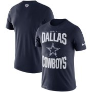 Wholesale Cheap Dallas Cowboys Nike Team Logo Sideline Property Of Performance T-Shirt Navy