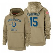 Wholesale Cheap Indianapolis Colts #15 Parris Campbell Nike Tan 2019 Salute To Service Name & Number Sideline Therma Pullover Hoodie