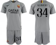 Wholesale Cheap Roma #34 Kluivert Away Soccer Club Jersey