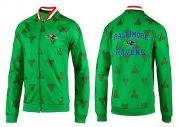 Wholesale Cheap NFL Baltimore Ravens Heart Jacket Green