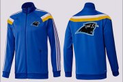 Wholesale Cheap NFL Carolina Panthers Team Logo Jacket Blue_5