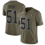 Wholesale Cheap Nike Raiders #51 Bruce Irvin Olive Men's Stitched NFL Limited 2017 Salute To Service Jersey