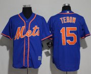 Wholesale Cheap Mets #15 Tim Tebow Blue New Cool Base Alternate Home Stitched MLB Jersey