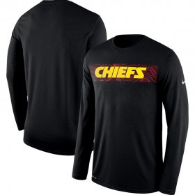 Wholesale Cheap Kansas City Chiefs Nike Sideline Seismic Legend Long Sleeve T-Shirt Black