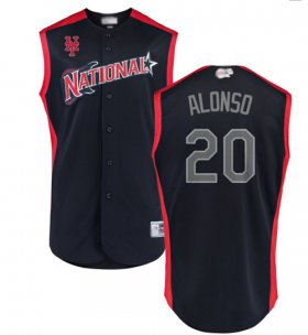 Wholesale Cheap Mets #20 Pete Alonso Navy 2019 All-Star National League Stitched MLB Jersey