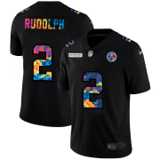 Cheap Pittsburgh Steelers #2 Mason Rudolph Men's Nike Multi-Color Black 2020 NFL Crucial Catch Vapor Untouchable Limited Jersey