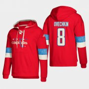 Wholesale Cheap Washington Capitals #8 Alex Ovechkin Red adidas Lace-Up Pullover Hoodie
