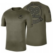 Wholesale Cheap Carolina Panthers #22 Christian Mccaffrey Olive 2019 Salute To Service Sideline NFL T-Shirt