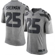 Wholesale Cheap Nike Seahawks #25 Richard Sherman Gray Men's Stitched NFL Limited Gridiron Gray Jersey