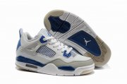 Wholesale Cheap Womens Air Jordan 4 Shoes Blue/Light gray