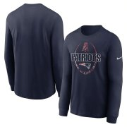 Wholesale Cheap New England Patriots Nike Icon Legend Performance Long Sleeve T-Shirt Navy