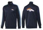 Wholesale Cheap NFL Denver Broncos Team Logo Jacket Dark Blue_2