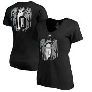 Wholesale Cheap Chicago White Sox #10 Yoan Moncada Majestic Women's 2019 Spring Training Name & Number V-Neck T-Shirt Black