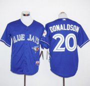 Wholesale Cheap Blue Jays #20 Josh Donaldson Blue Alternate Cool Base Stitched MLB Jersey