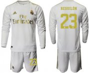 Wholesale Cheap Real Madrid #23 Reguilon White Home Long Sleeves Soccer Club Jersey