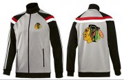 Wholesale Cheap NHL Chicago Blackhawks Zip Jackets Grey