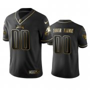Wholesale Cheap Nike Eagles Custom Black Golden Limited Edition Stitched NFL Jersey