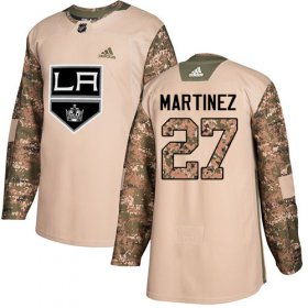 Wholesale Cheap Adidas Kings #27 Alec Martinez Camo Authentic 2017 Veterans Day Stitched NHL Jersey
